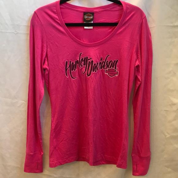 4bb521a1 Harley-Davidson Tops - Harley Davidson Hot Pink Long Sleeve T Shirt  Lg